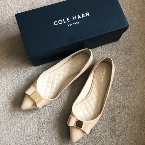 df67045465464 USED Cole Haan Tali Bow Flats